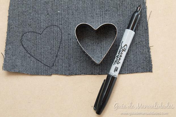 Señaladores corazón de jean 3