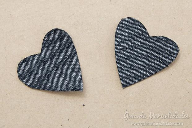 Señaladores corazón de jean 4