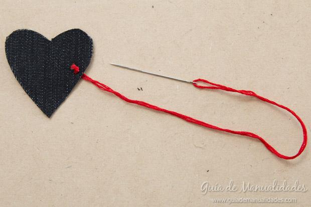 Señaladores corazón de jean 5