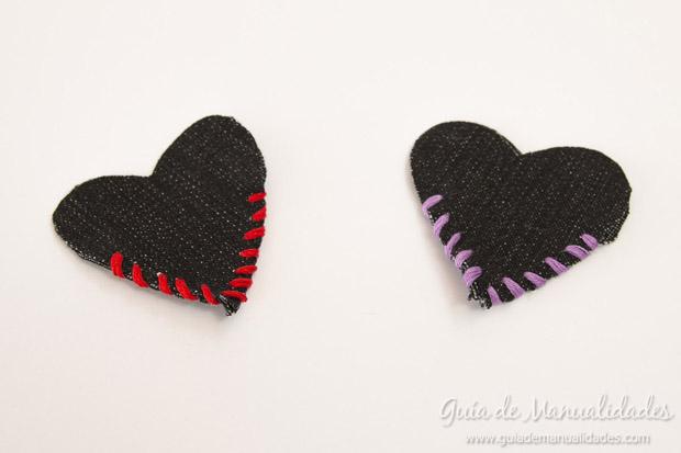 Señaladores corazón de jean 8