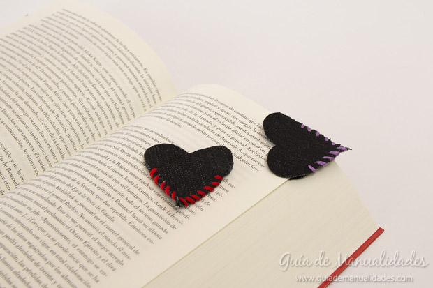 Señaladores corazón de jean 9