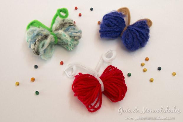 Mariposas con lana 1