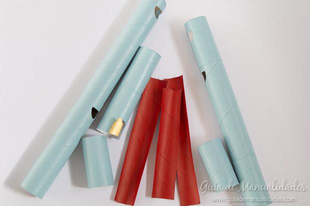 Castillo con tubos de cartón 10