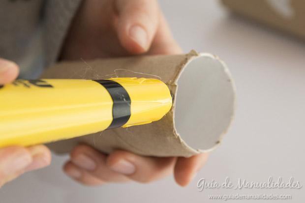 Castillo con tubos de cartón 5