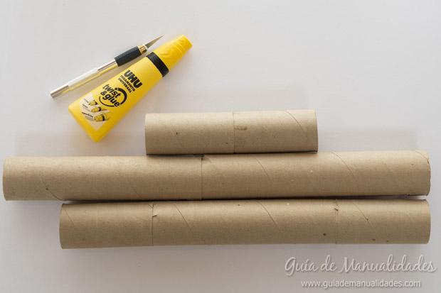 Castillo con tubos de cartón 6