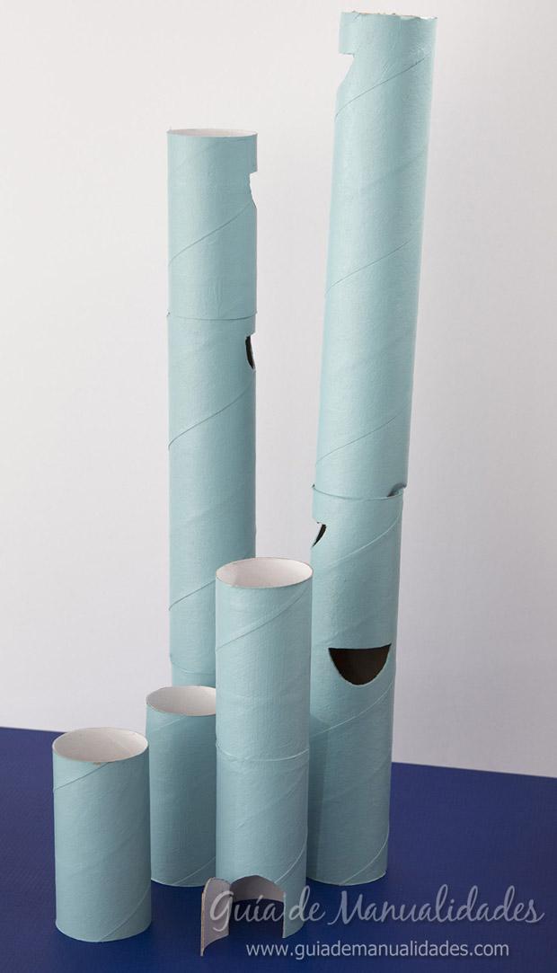 Castillo con tubos de cartón 8