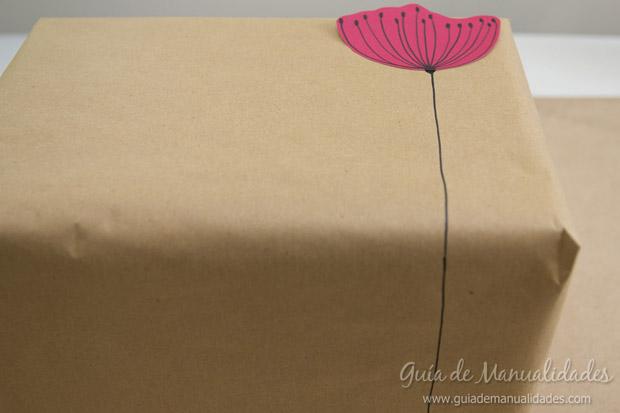 Envoltorio regalos con flores 14