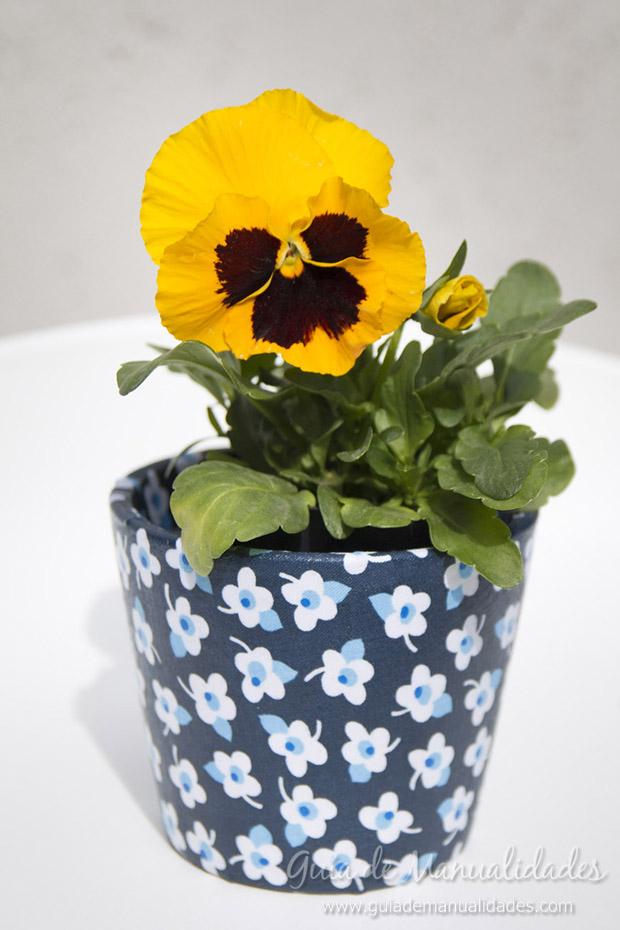 Jardineras decoradas con tela 1