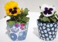 imagen Personaliza tus jardineras con tela