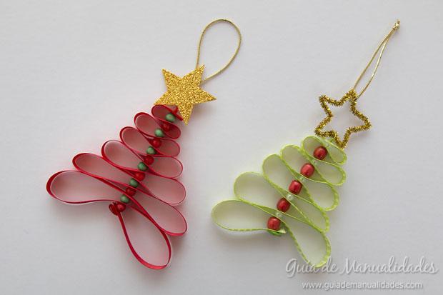 Adornos navide os con cintas gu a de manualidades for Manualidades para adornos navidenos