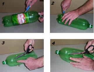 Escoba con botellas 1