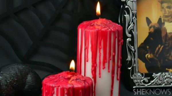 Velas con sangre Halloween 1