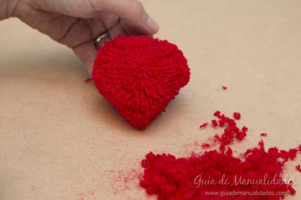 Topper pompones corazón 5