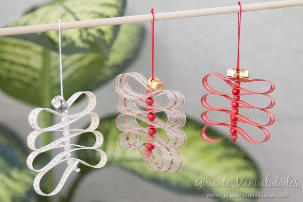 F ciles adornos de navidad con cintas y cascabeles gu a - Adornos faciles de navidad ...