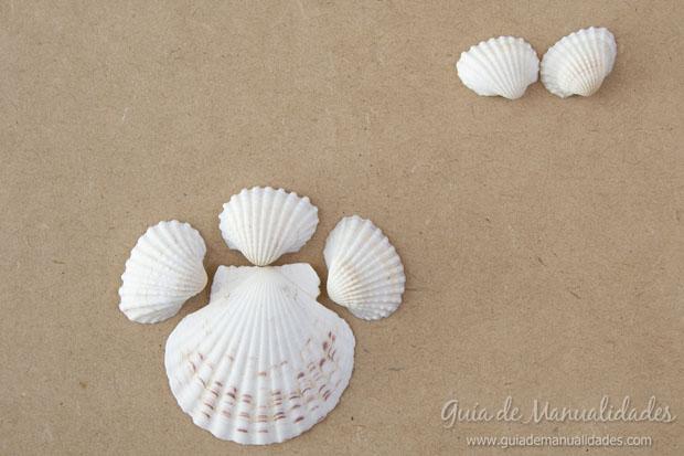 Adorno con conchas marinas 3