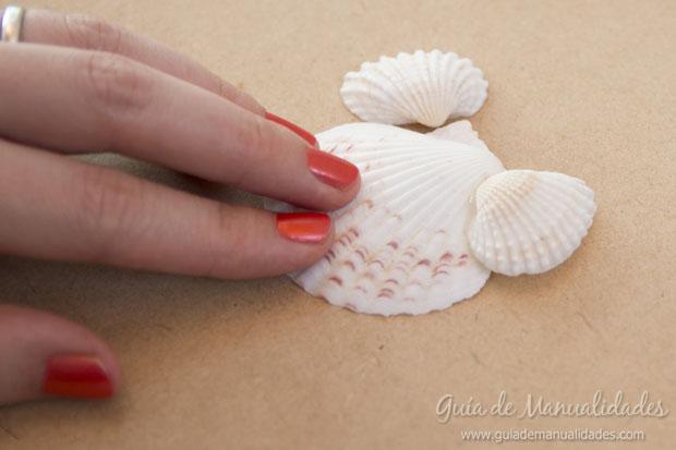 Adorno con conchas marinas 4