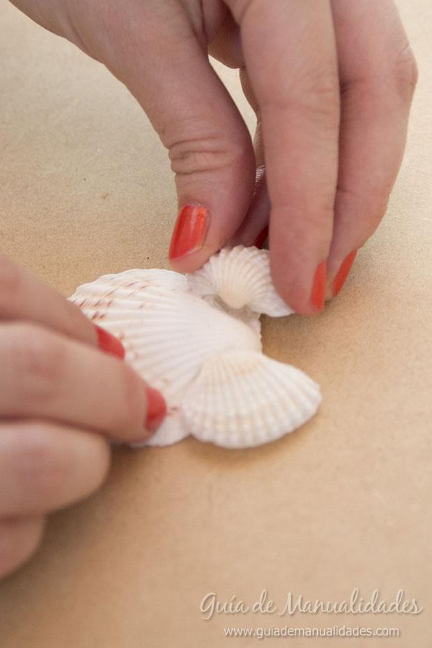 Adorno con conchas marinas 6