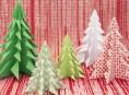 imagen Arbolitos de navidad de origami