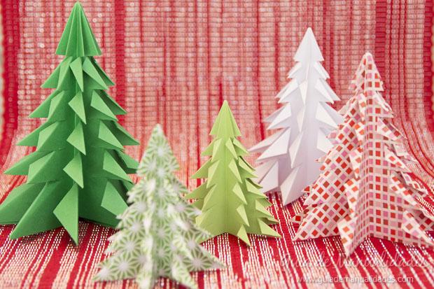 Arbolito navideño papel 1
