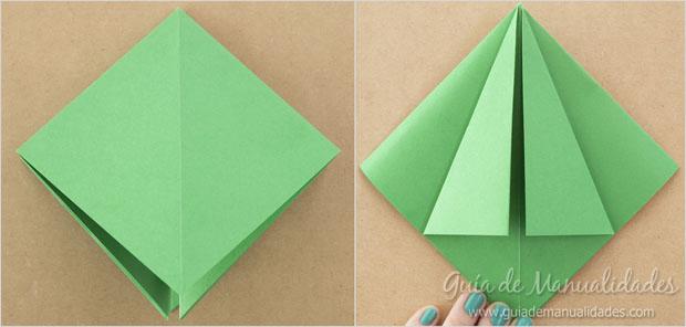 Arbolitos de navidad de origami gu a de manualidades - Arbol de navidad de origami ...