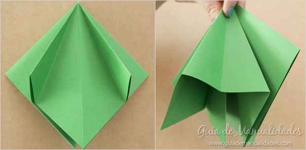 origami navidad arbol