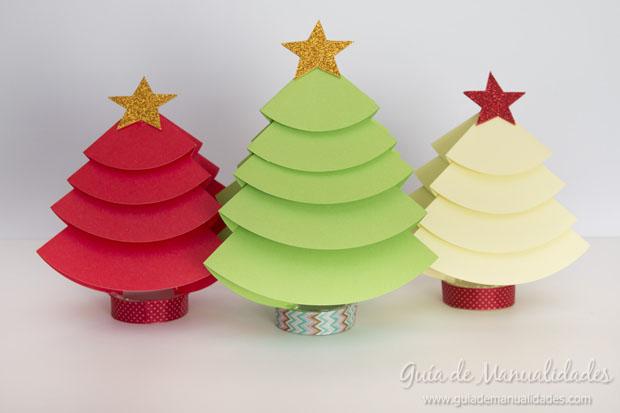 Arbolitos de navidad para decorar la mesa gu a de for Figuras navidenas para decorar