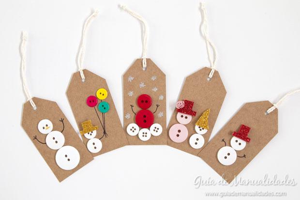 5 ideas de etiquetas navide as con botones gu a de - Como hacer cosas de navidad ...