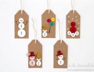 imagen 5 ideas de etiquetas navideñas con botones