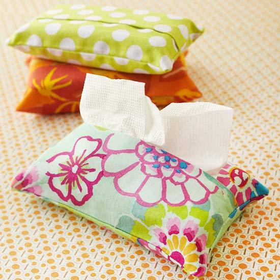 Fundas de tela para pa uelos de papel gu a de manualidades - Telas para fundas de sofa ...