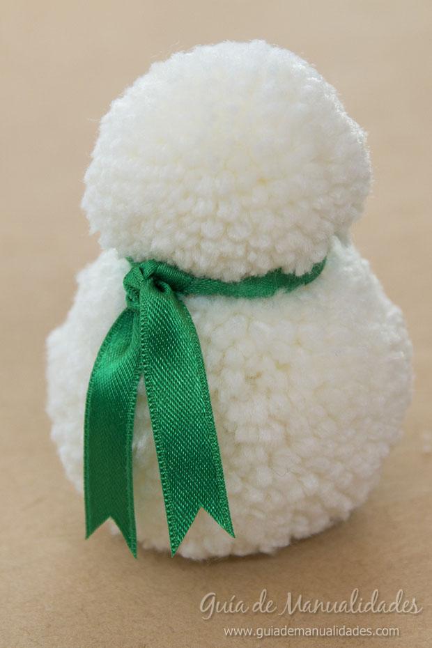 Muñeco de nieve con pompones 5