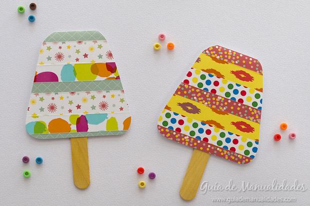 Tarjeta fiesta helado