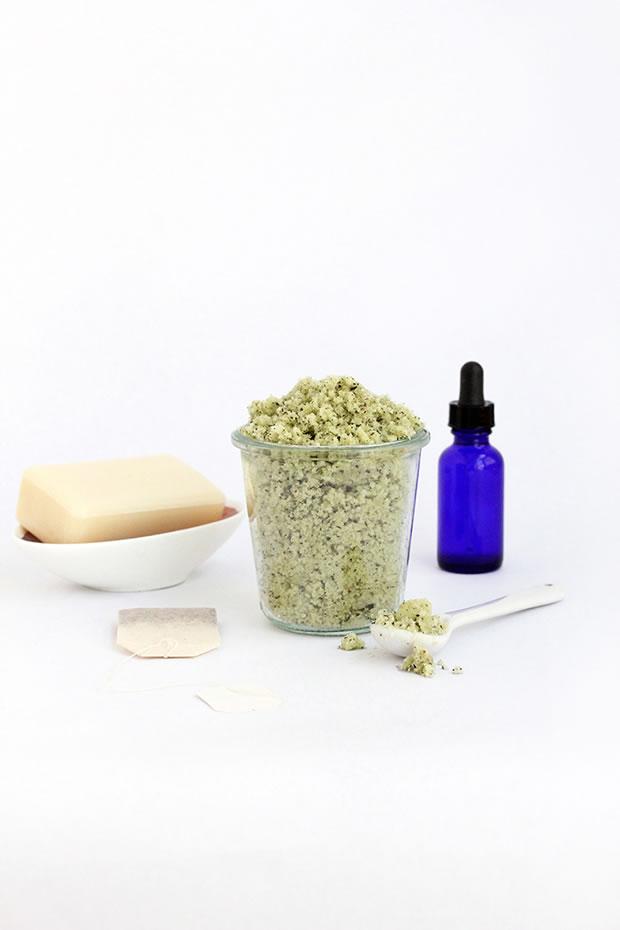 Exfoliante azúcar y té verde