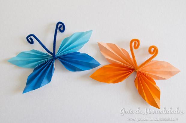 Mariposas papel plegado