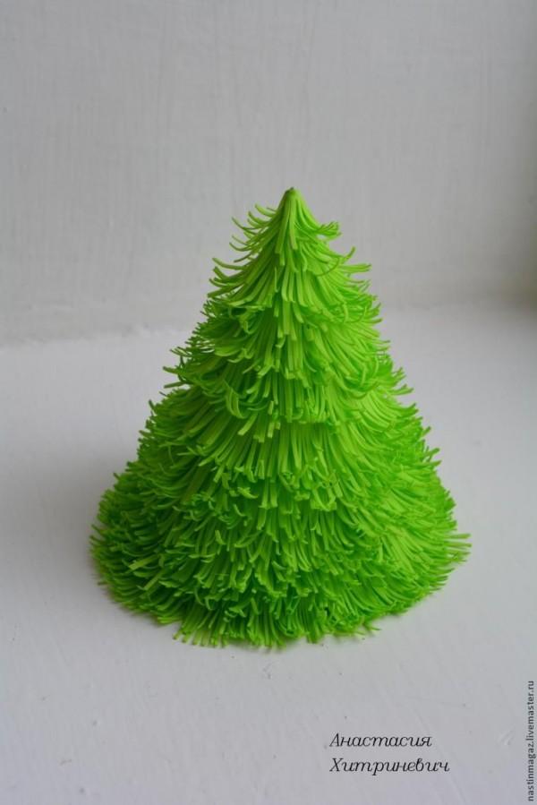 Arbolitos de navidad con goma eva gu a de manualidades - Adornos navidenos de goma eva ...