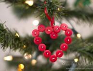 imagen Precioso corazón de botones para navidad