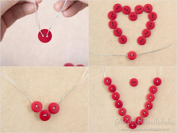 Corazón DIY de botones 4