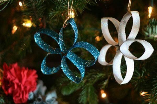 Ideas de navidad con tubos de cartón 3