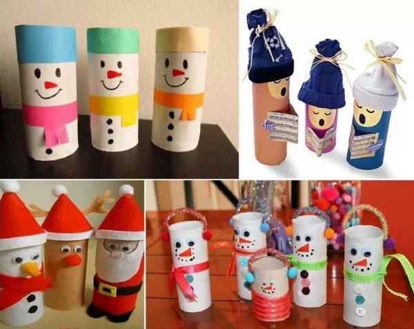 Ideas de navidad con tubos de cartón 4