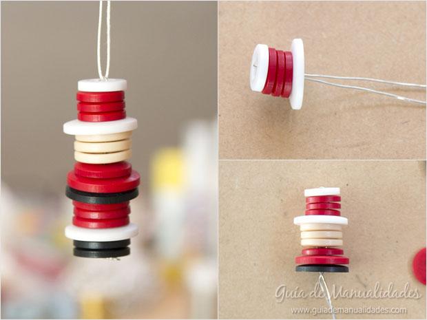 Idea navidad con botones 11