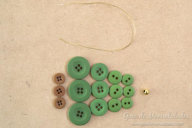 Idea navidad con botones 3
