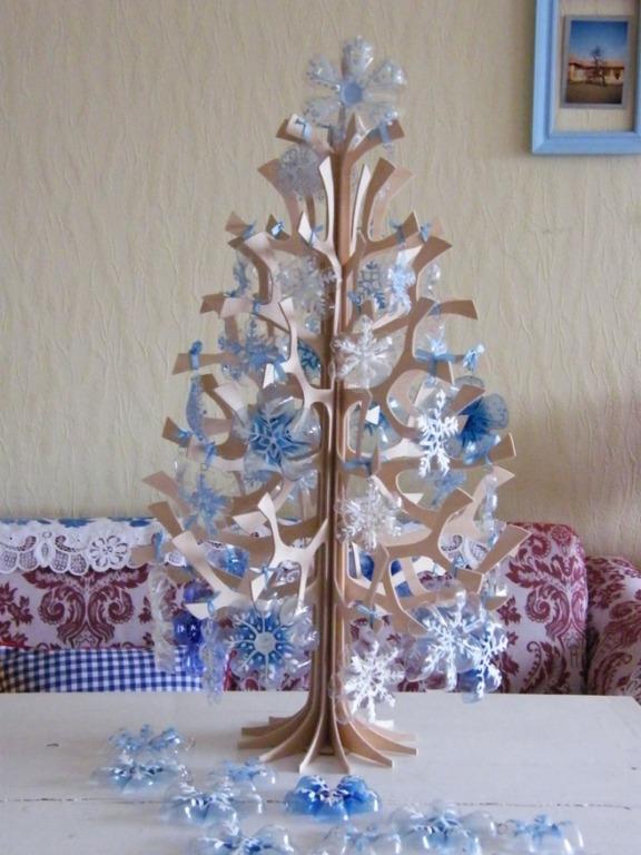 Ornamentos navidad con botellas 8