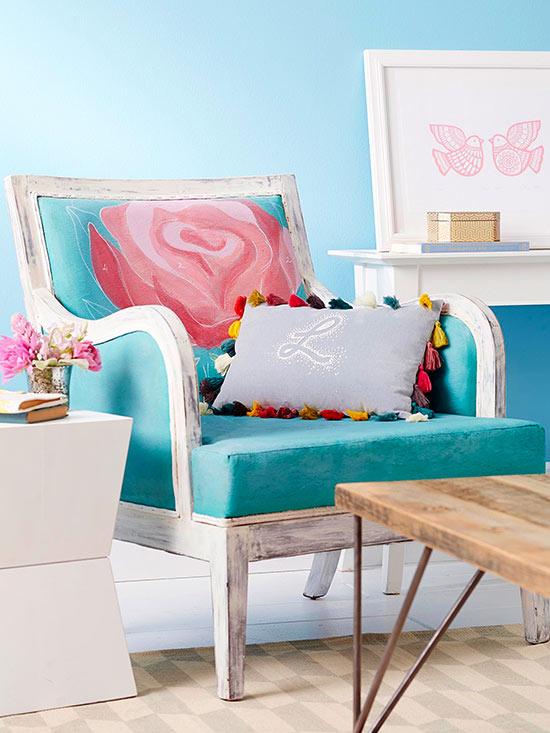 Sofá pintado 1