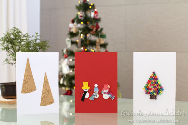Tarjetas navide as creativas de ltima hora gu a de - Manualidades tarjeta navidena ...