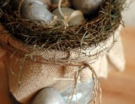imagen Huevos decorativos de cemento paso a paso