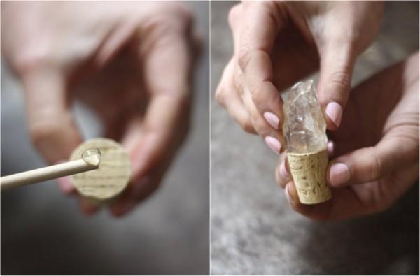 Tapones de corcho con minerales 4