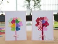 imagen Románticas tarjetas de San Valentín con corazones