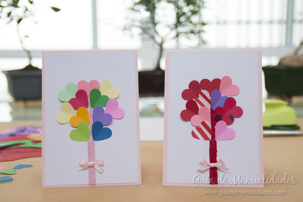 Románticas tarjetas de San Valentín - Guía de MANUALIDADES