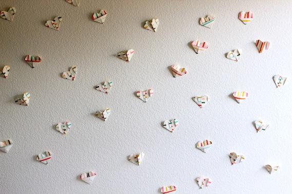 Corazones de origami para San Valentín 1