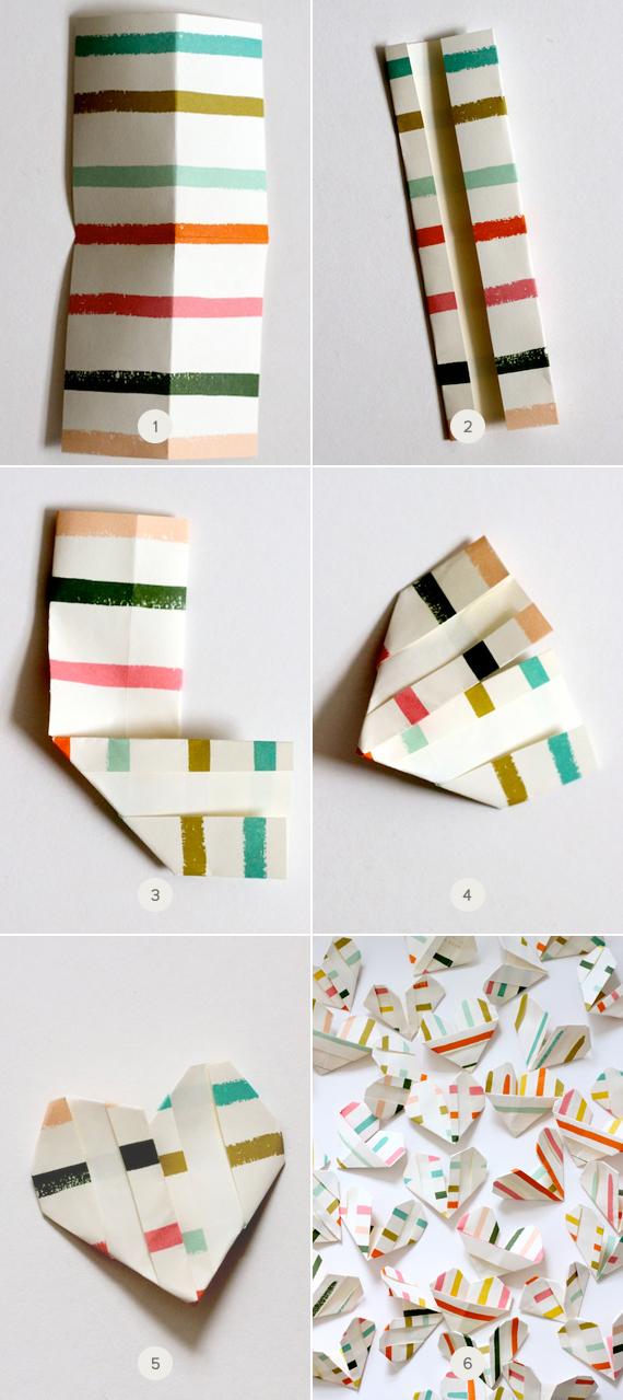 Corazones de origami para San Valentín 3