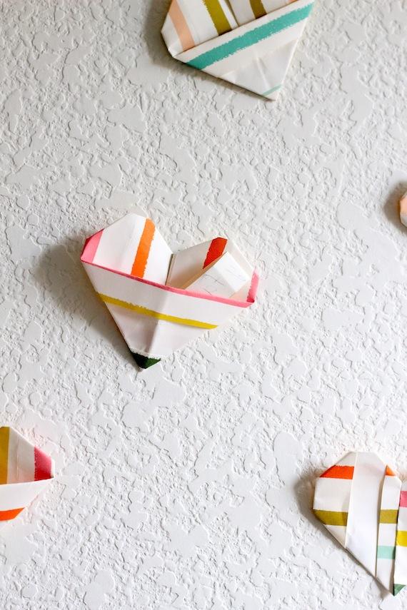 Corazones de origami para San Valentín 4